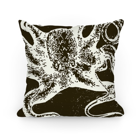 Vintage Octopus (Brown) Pillow