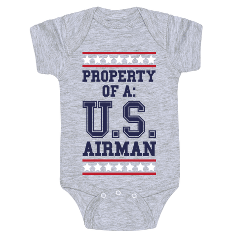 Property Of A U.S. Airman Baby Onesy