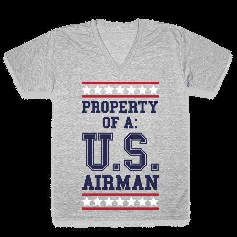 Property Of A U.S. Airman V-Neck Tee Shirt