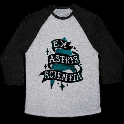 Ex Astris Scientia Baseball Tee