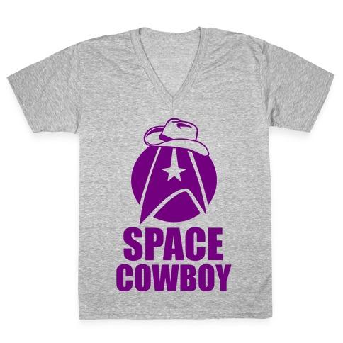 Space Cowboy V-Neck Tee Shirt