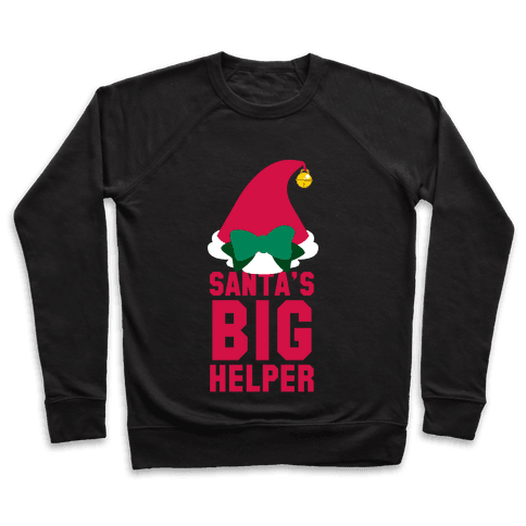 Santa's Big Helper (White Ink) Pullover
