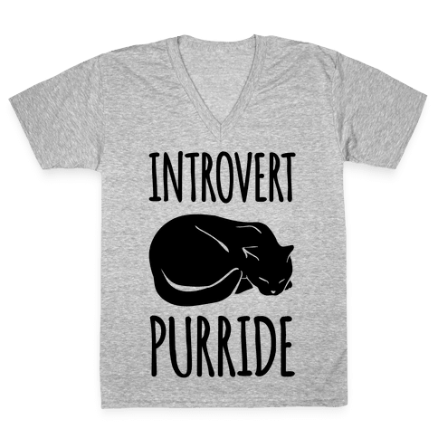 Introvert Purride V-Neck Tee Shirt