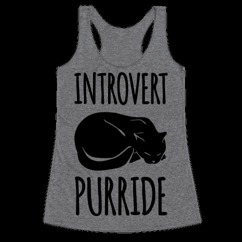 Introvert Purride Racerback Tank Top