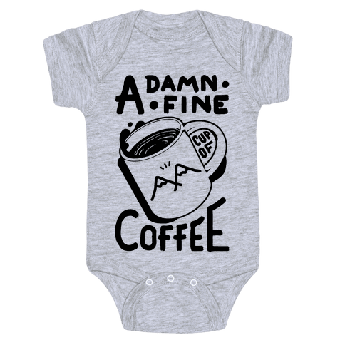 Twin Peaks Quote A Damn Fine Cup Of Coffee Baby Onesy