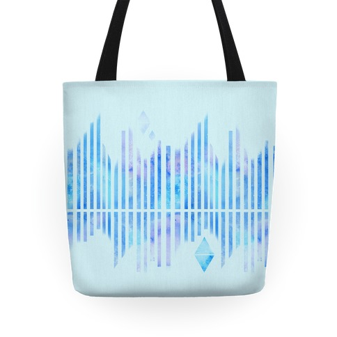 Abstract Winter Crystals Tote