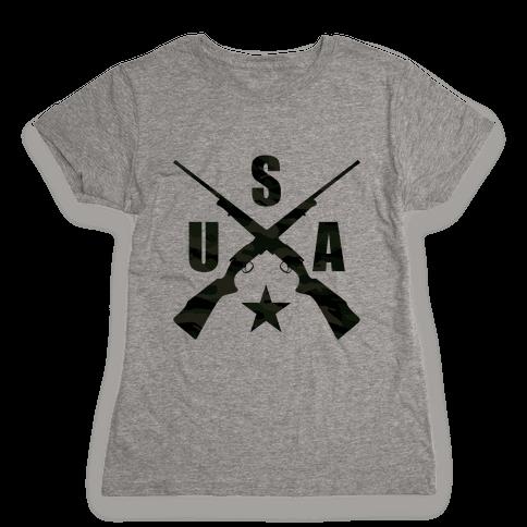 USA Rifles Womens T-Shirt