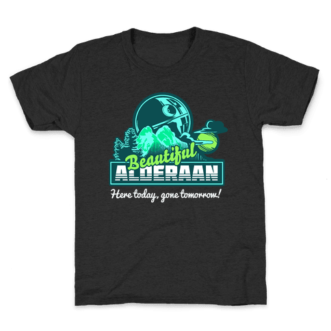 Beautiful Alderaan Vacation Kids T-Shirt