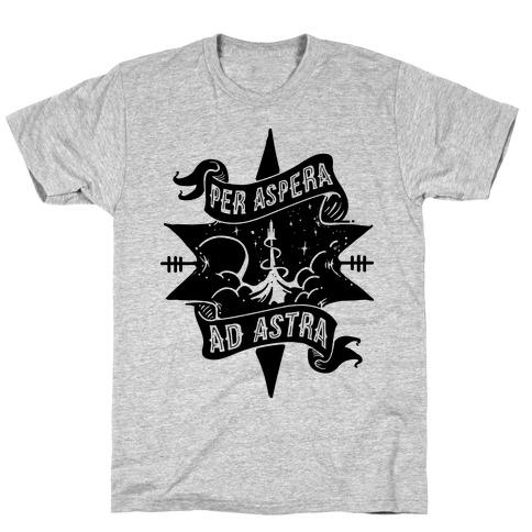 Per Aspera Ad Astra Mens T-Shirt