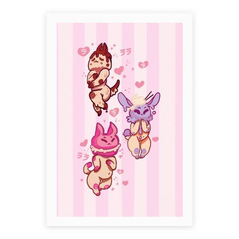 Kawaii Chibi Desserts Poster