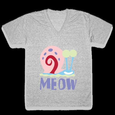 Meow V-Neck Tee Shirt