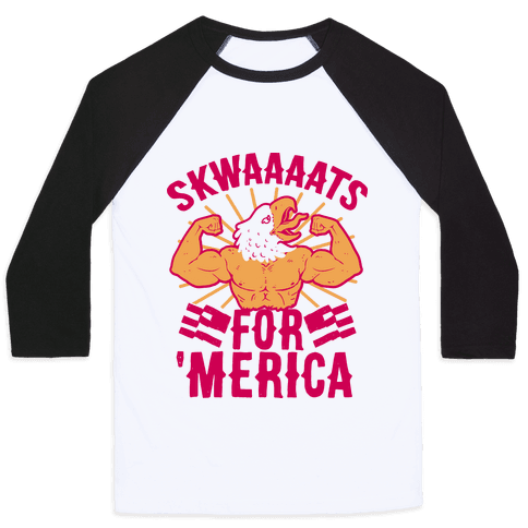 Skwaaaats For 'Merica Baseball Tee