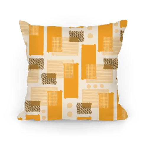 Yellow Geometric Pattern Pillow