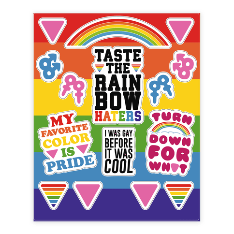 My Favorite Color is Pride  Sticker/Decal Sheet