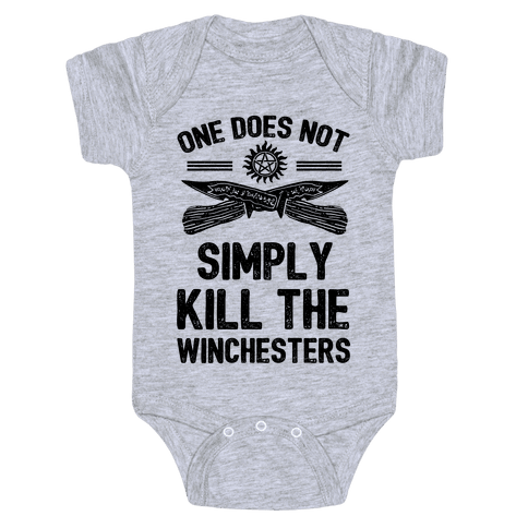 One Does Not Simply Kill The Winchesters Baby Onesy
