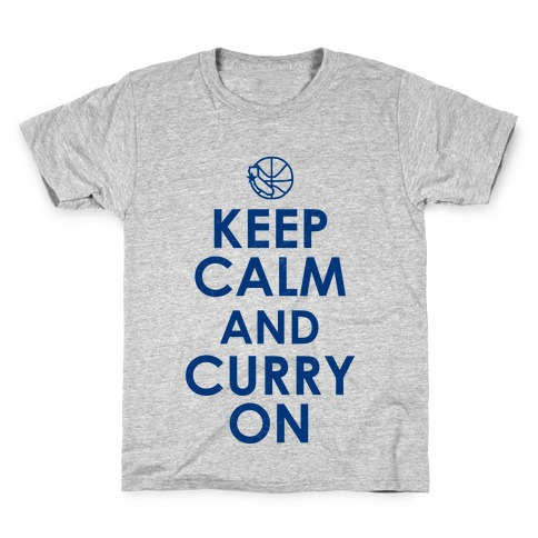 Keep Calm & Curry On Kids T-Shirt