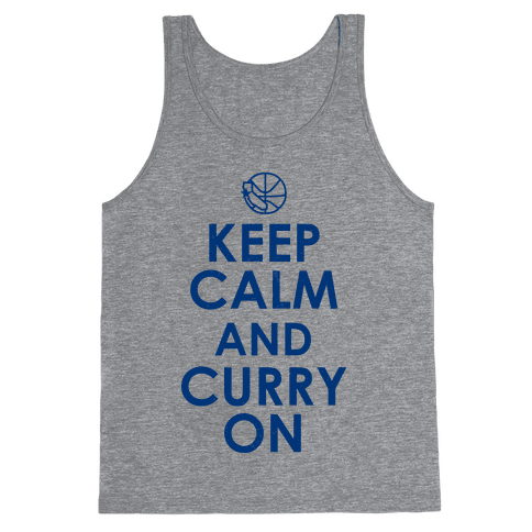 Keep Calm & Curry On Tank Top