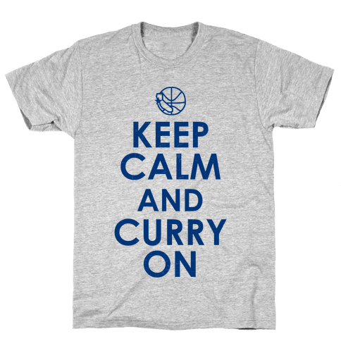 Keep Calm & Curry On Mens T-Shirt