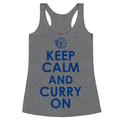Keep Calm & Curry On Racerback Tank Top