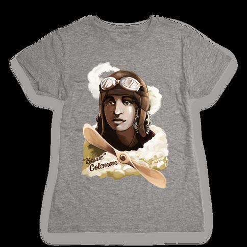 """Queen Bess (Elizabeth """"Bessie"""" Coleman) Womens T-Shirt"""