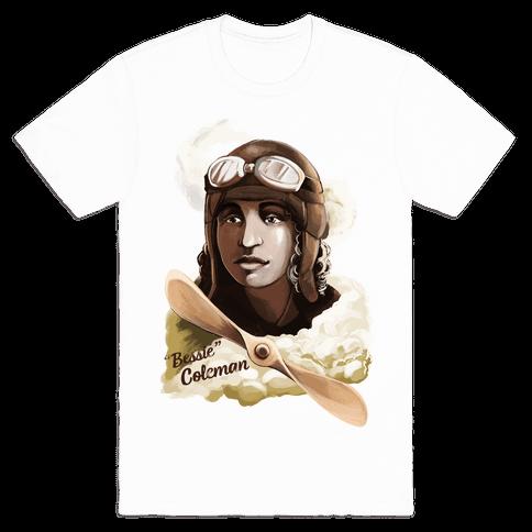 "Queen Bess (Elizabeth ""Bessie"" Coleman) Mens T-Shirt"