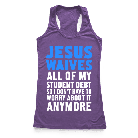 Jesus Waives Racerback Tank Top