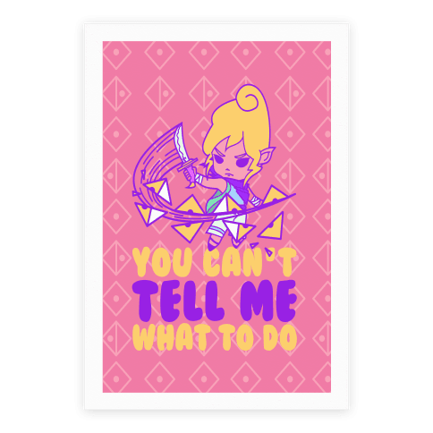 You Can't Tell Tetra What to Do Parody Poster