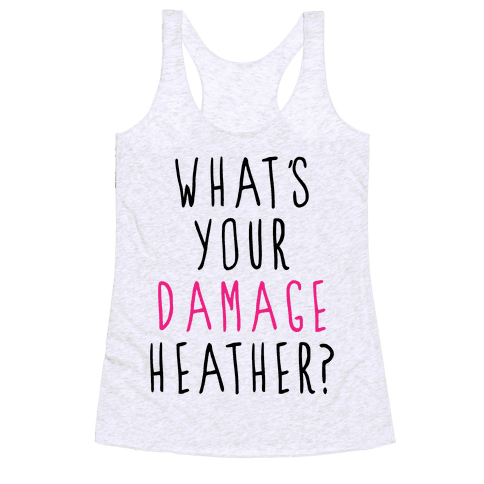What's Your Damage Racerback Tank Top