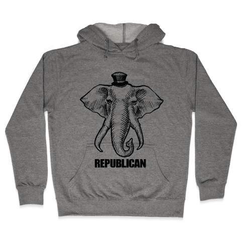 Republican Elephant Simplified Hooded Sweatshirt
