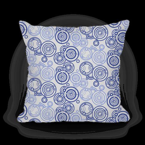 Gray and Blue Gallifreyan Writing Pattern