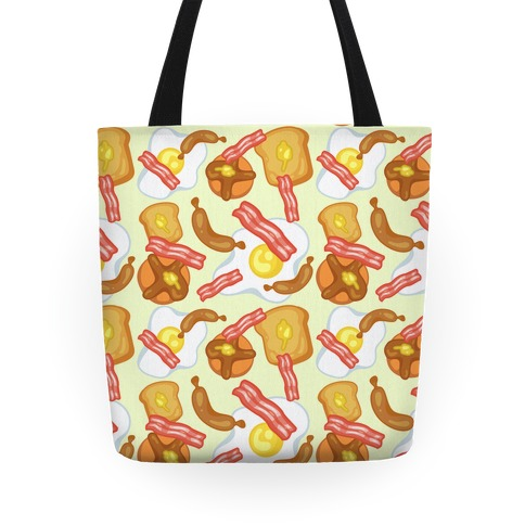 Breakfast Food Pattern Tote Tote