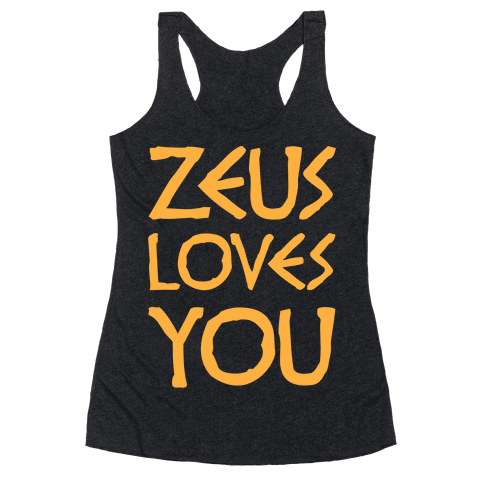 Zeus Loves You Racerback Tank Top