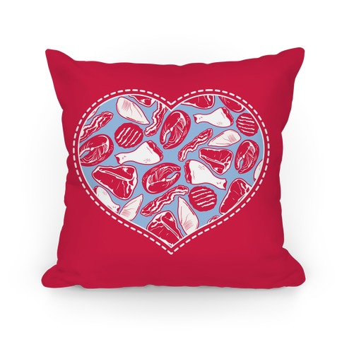 Meat Pattern Love Pillow