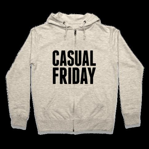 Casual Friday Zip Hoodie