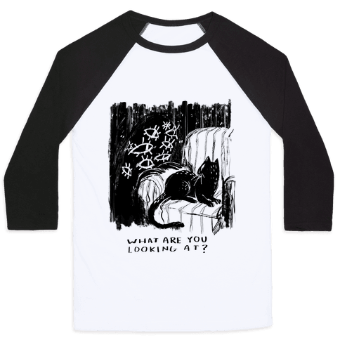 What Are You Looking At? Baseball Tee