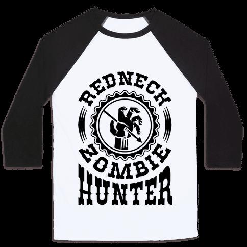 Redneck Zombie Hunter Baseball Tee