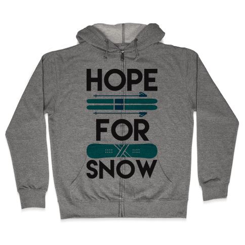 Hope For Snow Zip Hoodie