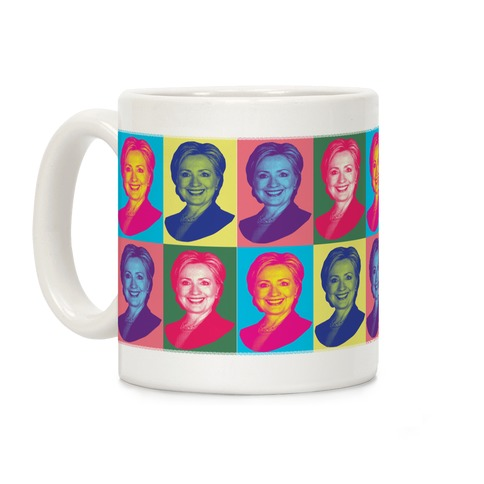 Pop Art Hillary Clinton Pattern Coffee Mug
