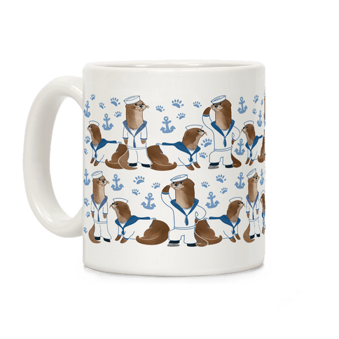 Sea Sailor Otters Coffee Mug