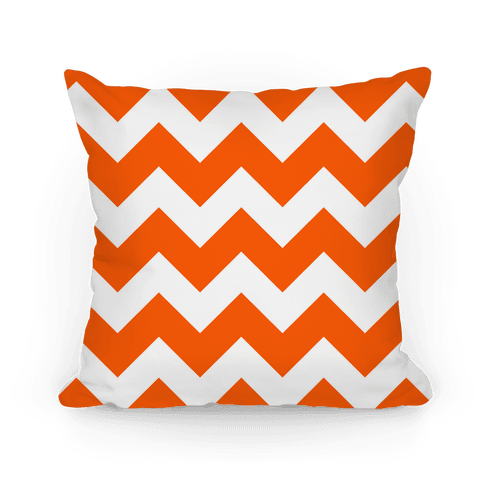 Chevron Pillow (Tangerine) Pillow