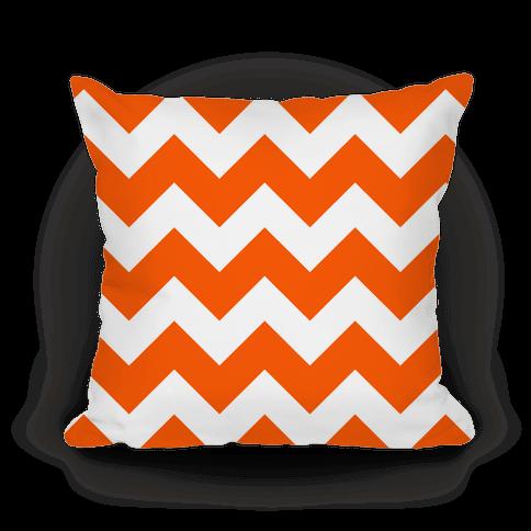 Chevron Pillow (Tangerine)