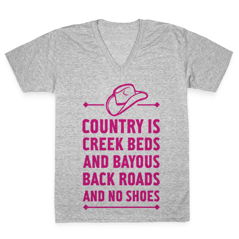 Country Is V-Neck Tee Shirt