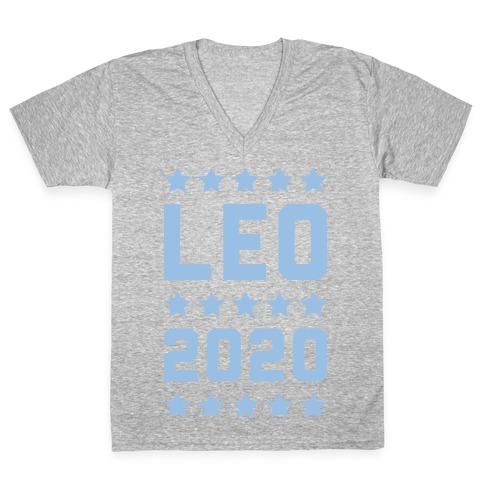 Vote Leo 2020 Parody V-Neck Tee Shirt