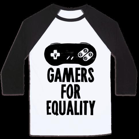 Gamers For Equality Baseball Tee