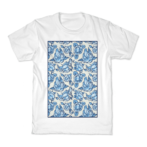 Floral Penis Pattern Kids T-Shirt