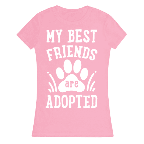 My Best Friends are Adopted Womens T-Shirt