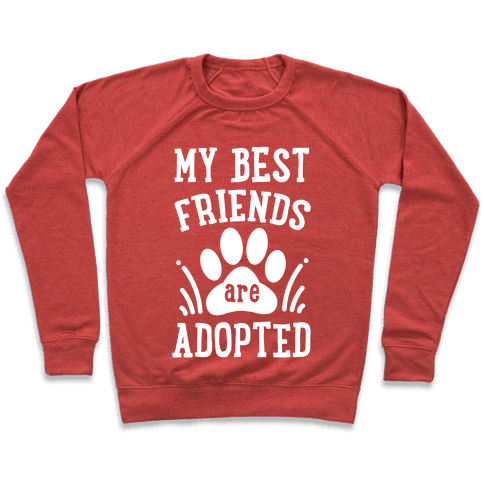 My Best Friends are Adopted Pullover