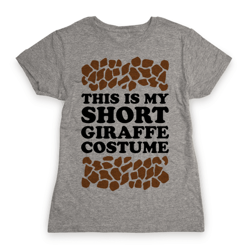Short Giraffe Costume Womens T-Shirt