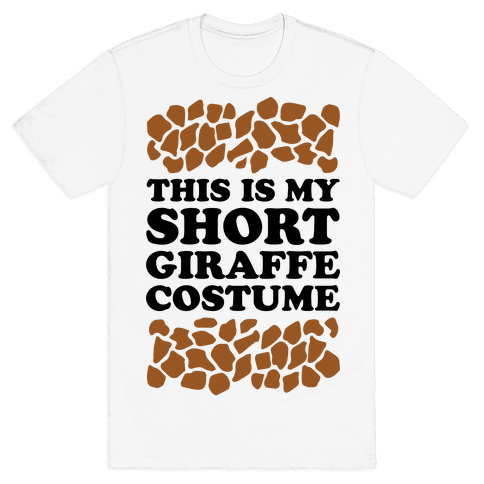 Short Giraffe Costume Mens T-Shirt