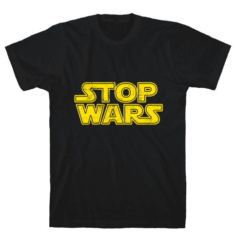 Stop Wars (Dark Print) Mens T-Shirt